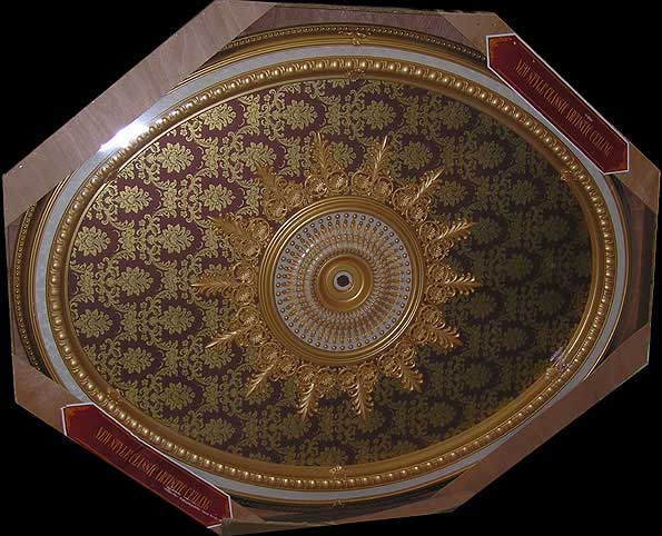 Wishihadthat Oval Ceiling Medallion Gold On Red