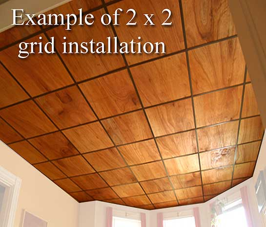 2x2 Wood Ceiling Tiles