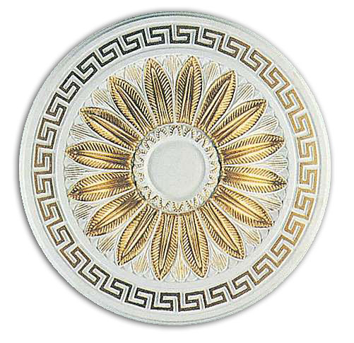Wishihadthat Round Ceiling Medallion Gold Trimmed