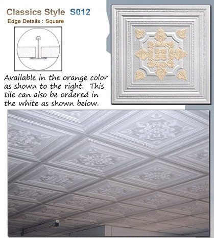 Ceiling Tile Tin - suppliers or ornate decorations and fixtures