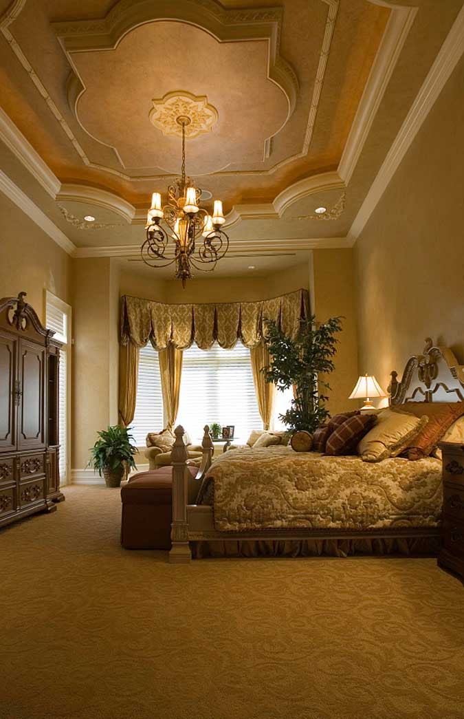 Opulent Tiered Tray Ceiling