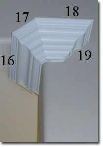 Cutting crown molding for Kitchen cabinets 45 degree angle