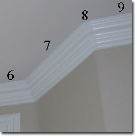 Cutting crown molding angles