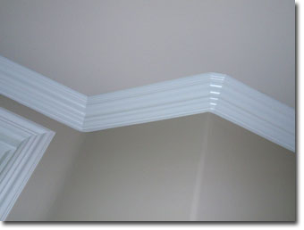 After Caulking Crown Moulding