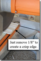 Cut Crown Molding Edge
