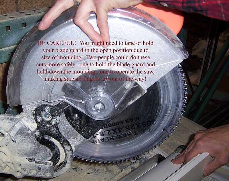 how to use a miter saw to cut molding