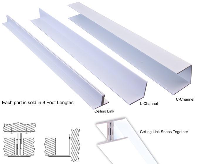 Ceiling Link Surface Mount Vinyl Grid System White on Kitchen Design Layout Grid