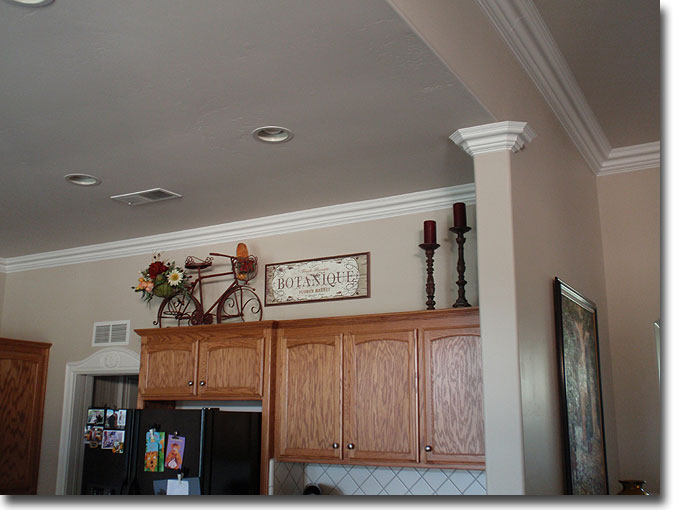 Pictures Of My Kitchen After Crown Molding